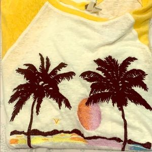 Brand New Free People Palm Tree Shirt
